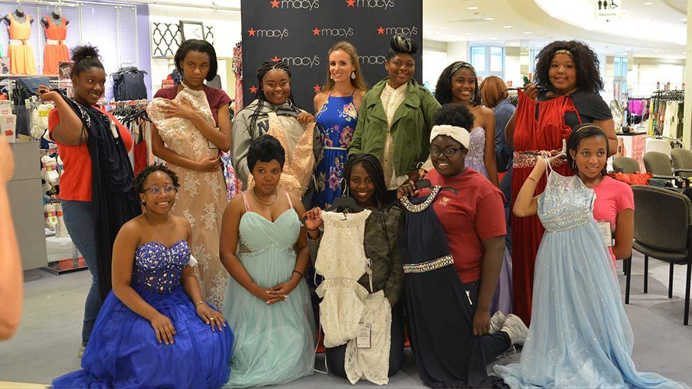 Macy\'s Prom Dress Drive - Kyle Busch Foundation